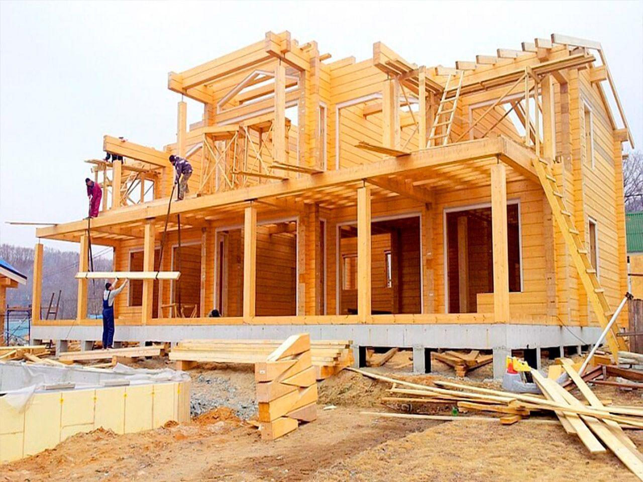 поэтапное строительство деревянного дома фото оформлением