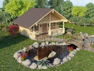 Общий вид дачного домика